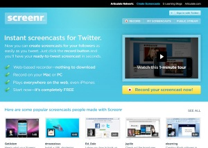 video tutoriales para cursos e learning con Screenr